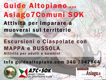 Mappa&Bussola - Trekking Topografico con GUIDE ALTOPIANO e ASIAGO 7 COMUNI SOK