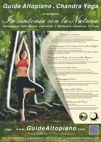 In tune with nature with guides PLATEAU and CHANDRA YOGA