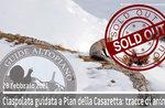 CIASPOLATA PIAN DELLA CASARETTA; TRACCE DI ANIMALI, 28 febbraio 2021