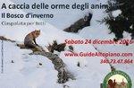 -24 geführte Schneeschuhwanderung mit Fußspuren JAGD: HIGHLAND GUIDES Dezember 2016