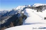 TOP MANDRIOLI: geführte Schneeschuhwandern Blicke über die Grenze Plateau
