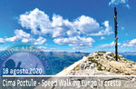 SPEED WALKING A CIMA PORTULE, schnelle Wanderung, 18. August 2020