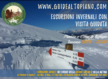 TREKKING AND TREKKING - Guided Tours INVERNO 2020 - GUIDE ALTOPIANO Asiago7C