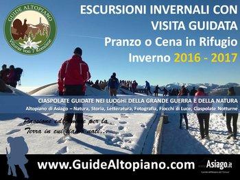 CIASPOLE - Escursioni Invernali 2017 GUIDE ALTOPIANO Altopiano Asiago