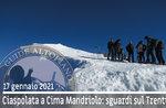 SNOWSHOEING AT CIMA MANDRIOLO, LOOKS ON TRENTINO, 17. Januar 2021