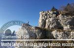 MONTE CENGIO der Weg von Malga Roccolo, Ausflug 13. September 2020