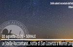 DIE STERNE ERZÄHLEN. NIGHT SAN LORENZO mit Astrofilo, 10. August 2020 SERA