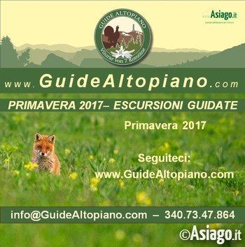 ESCURSIONI/TREKKING - VISITE GUIDATE di Primavera 2017 GUIDE ALTOPIANO