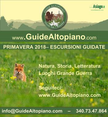 ESCURSIONI e TREKKING - VISITE GUIDATE Primavera 2018 GUIDE ALTOPIANO