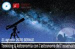 TREKKING & ASTRONOMIA: Exkursion mit dem Astronomen des Observatoriums, 21/8/20 SERA