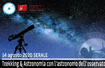 TREKKING & ASTRONOMIA: Exkursion mit dem Astronomen des Observatoriums, 14/8/20 SERA