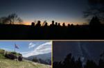 Sonnenuntergang und Sterne vom Mount Zovetto - Samstag 28 November 2020
