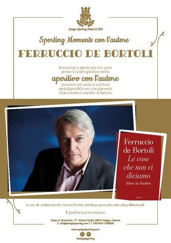 Ferruccio De Bortoli all'Asiago Sporting Hotel