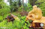 Ökologische Tag zu reinigen und sanieren die Park-Natur-Kunst SelvArt, Mezzaselva von Roana-April 29, 2017