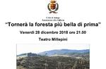 """""""Kehren im Wald, schöner als zuvor""""-Abend zur Wiederherstellung von Wäldern und Parks auf der Hochebene-Asiago, 28. Dezember 2018"""
