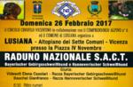 Nationales Treffen S.A.C T in Lusiana, Asiago Hochebene-Februar 26, 2017