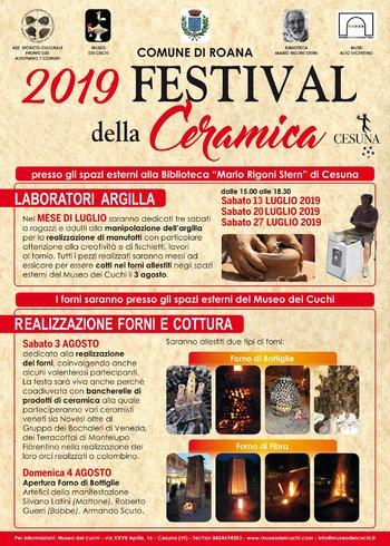 Festival della Ceramica a Cesuna di Roana - Luglio/Agosto 2019