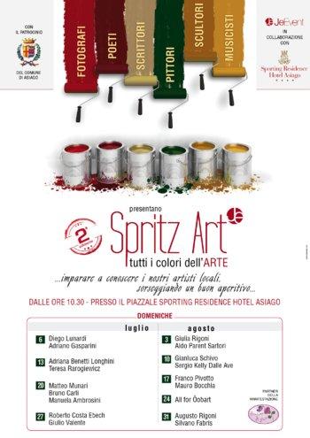 SPRITZ Kunst alle Farben der Kunst in Asiago vom 6 Juli bis 31. August 2014