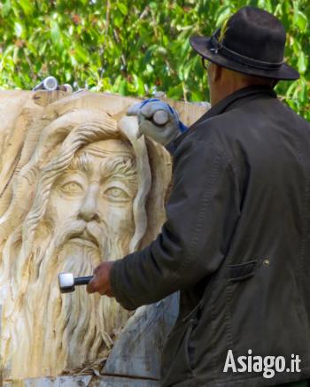 simposio di scultura su legno treschè conca 2021