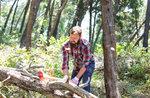 """""""Altes Handwerk: Wir gehen in den Wald, man würde erwarten, dass die Woodman"""" organisiert durch das Museo Naturalistico di Asiago-August 19, 2017"""