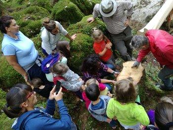 incontro per bambini con il boscaiolo