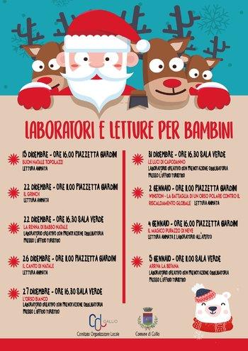 Laboratori e letture per bambini a Gallio - Dicembre 2018 e Gennaio 2019