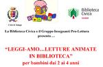 Lesungen für Kinder mit kreativ-Workshops in der Bibliothek Dezember 2018 und 2019 in Asiago-Januar