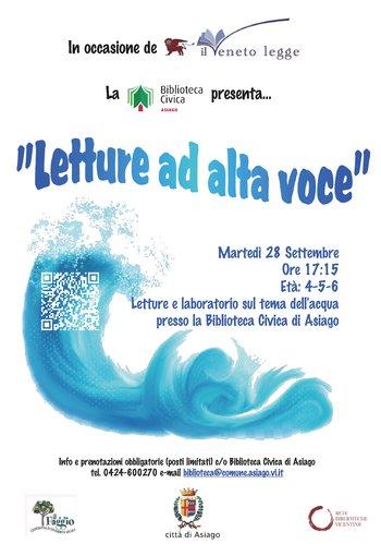 Letture sul tema dell'acqua alla Biblioteca Civica di Asiago