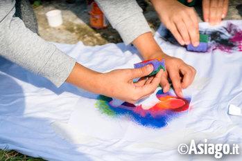 pittura bambini con spuegnette
