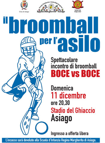 Partita di Broomball ad Asiago per l'Asilo Regina Margherita