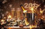 Neue Jahr 2017 im Restaurant St. Hubertus, Hotel Europa, Asiago, 31. Dezember 2016