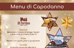 Silvester 2020 - Das vorgeschlagene Menü der Restaurant-Pizzeria AL FORTINO in Canove - 31. Dezember 2019