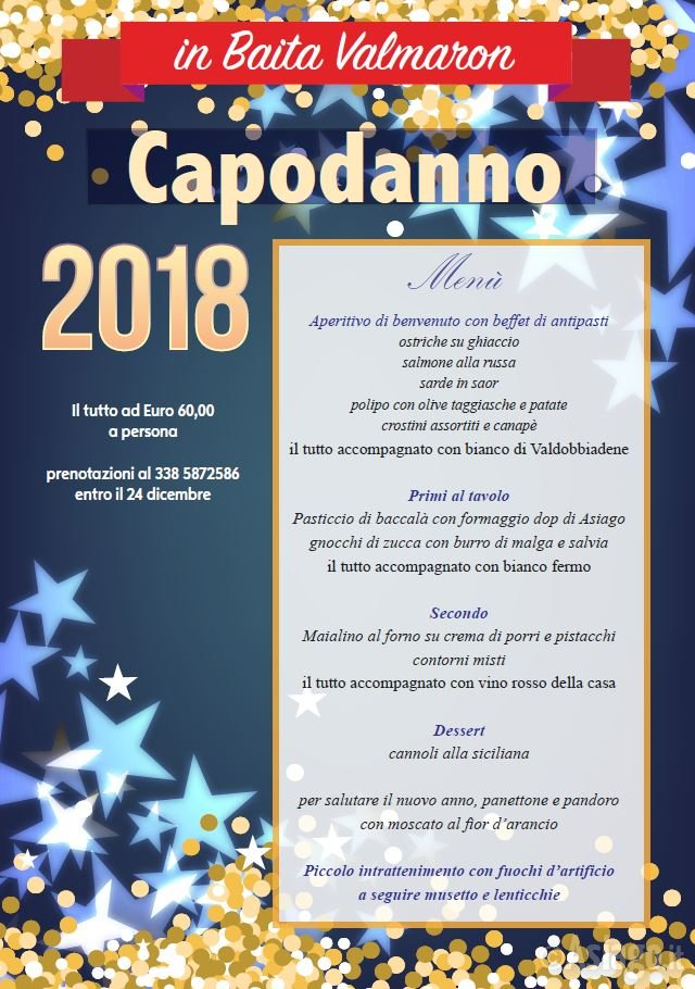 Capodanno 2018 in baita val maron enego 31 dicembre 2017 for Baita asiago capodanno