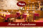 Neue Jahr 2018-die vorgeschlagenen Restaurant Speisekarte-Pizza Magia di Asiago-31. Dezember 2017