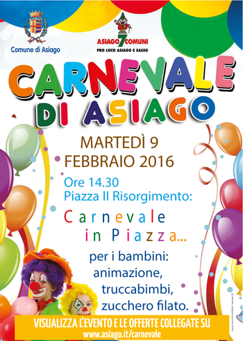 Karneval in Asiago, Piazza Risorgimento, Dienstag, 9. Februar 2016 II