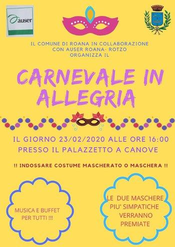festa carnevale in allegria a canove