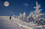 Schneeschuhwandern in der Moonlight-Nacht mit Abendessen in Berghütten, 11. März 2017