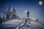 Schneeschuh-Abend mit Abendessen im Alpine Hütte Bar, Hochebene von Asiago, 10. Dezember 2016