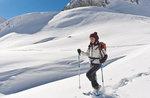 Schneeschuh-Wanderung, Alpine Hütte Bar, Hochebene von Asiago, 5. Februar 2017