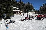 Ausflug nach Sonnenuntergang und Abendessen an der Alpine Hütte Bar, Asiago Hochebene 2016