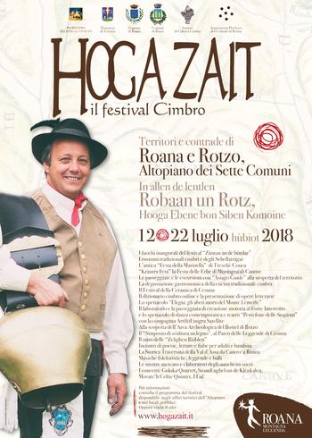 Hoga Zait 2018 - Il festival Cimbro dell'Altopiano a Roana e frazioni - Dal 12 al 22 luglio 2018