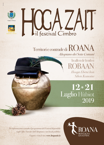 Hoga Zait 2019 - The Cimbro Festival of the Plateau in Roana and hamlets - From 12 to 21 July 2019