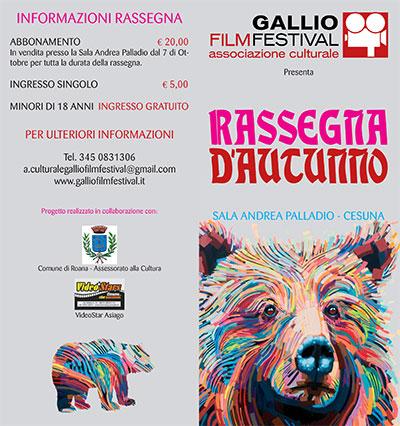 Rassegna d'Autunno Gallio Film Festival, Cesuna di Roana dicembre 2014