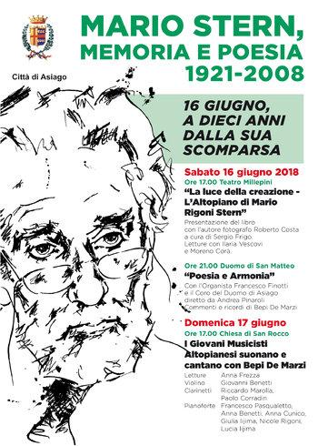 MARIO STERN, MEMORIA E POESIA - Eventi per il 10° anniversario della scomparsa di Mario Rigoni Stern - 16 giugno 2018