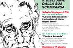 MARIO STERN, Speicher und Poesie-Veranstaltungen zum 10-jährigen Jubiläum des Todes von Mario Rigoni Stern / 16. Juni 2018