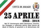Cerimonia per la Festa della Liberazione ad Asiago - 25 aprile 2018