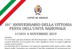 101. Jahrestag des Sieges - Tag der nationalen Einheit - Asiago, 4. November 2019