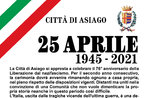 Liberation Day Ceremony in Asiago - April 25, 2021