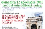 Zeremonie zur Erinnerung an dekoriert für Tapferkeit im ersten Weltkrieg-Asiago-12 November 2017