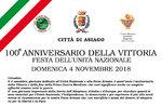 100. Jahrestag des Sieges-Partei der nationalen Einheit nach Asiago   4. November 2018